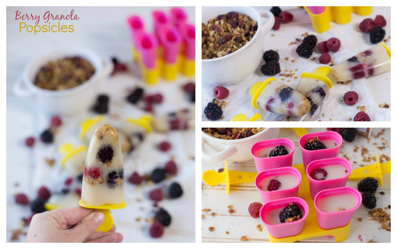 Berry Granola Popsicle, Kids Nutrition