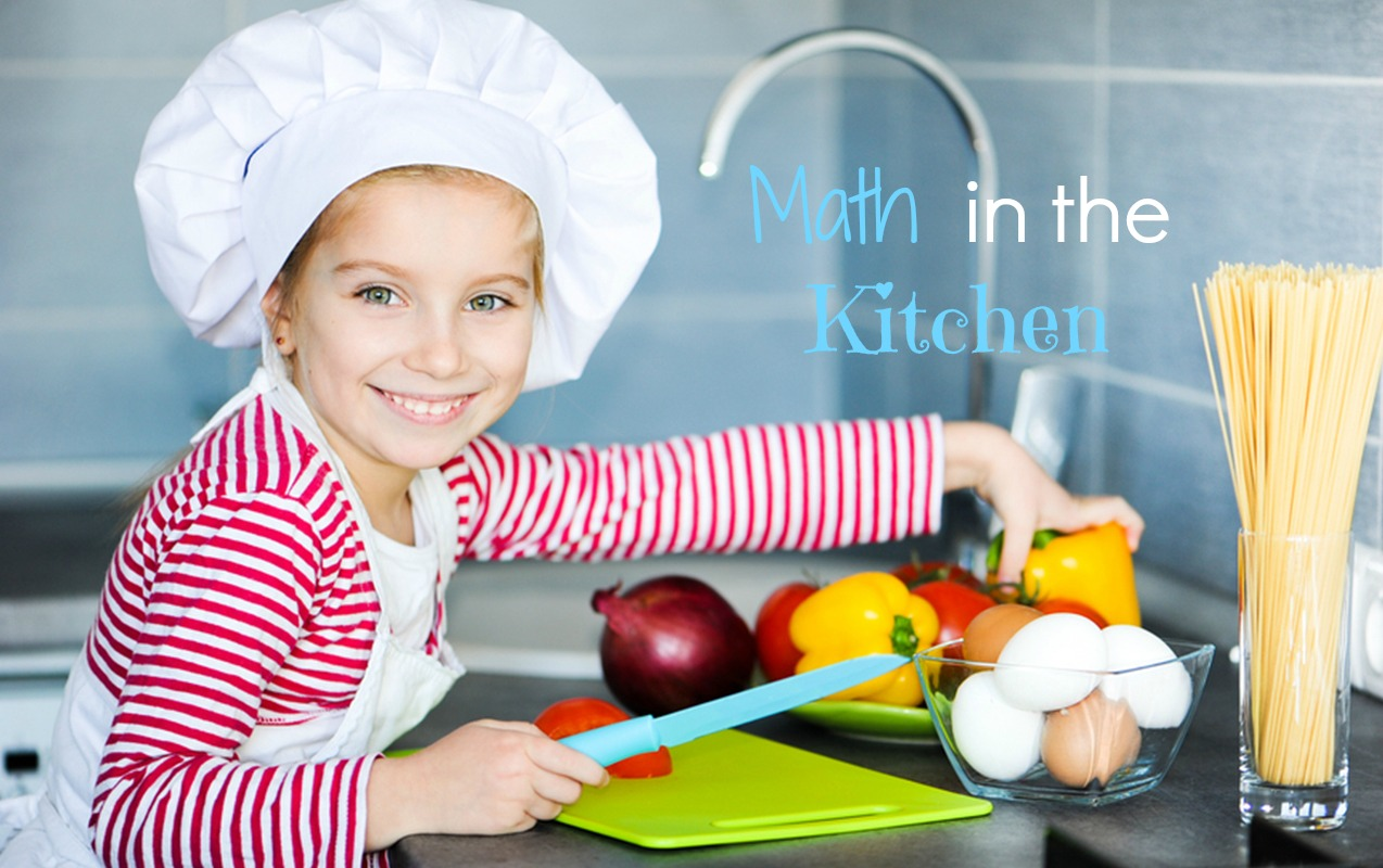 Math games in the Kitchen to improve math facts, math concepts, and fractions