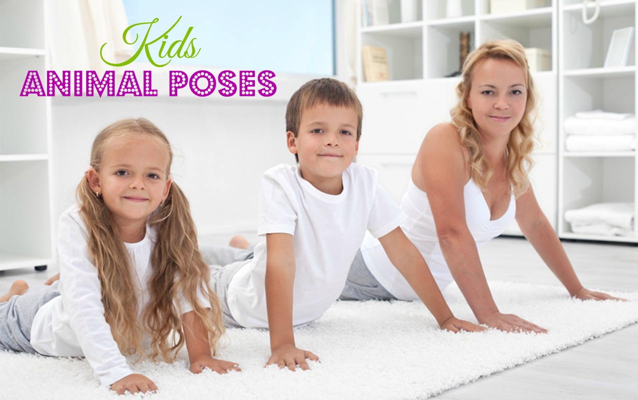 Fun Kid Animal poses to improve gross and fine motor skills for higher learning.