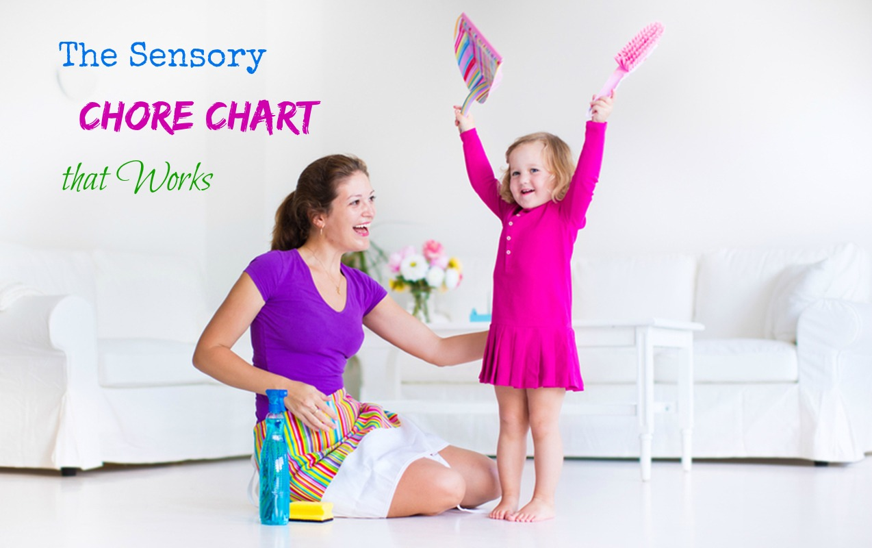 The Best Chore Chart for Sensory Sensitive Kids.