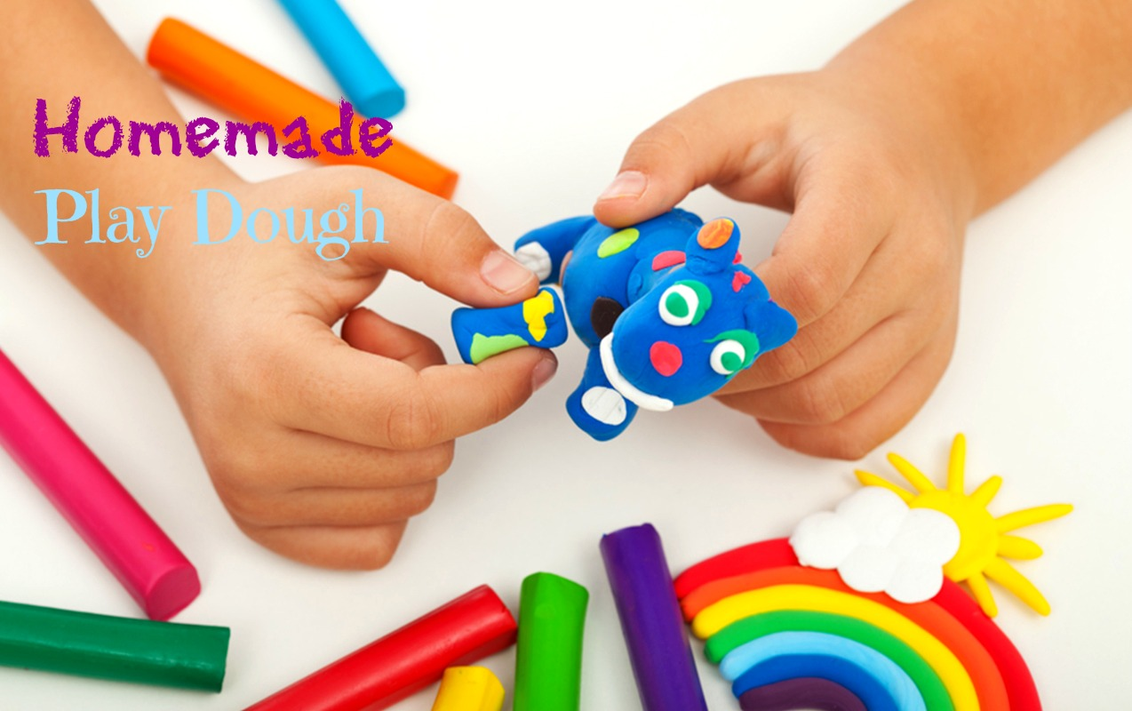 Fun and Easy play dough recipe to make at home for your kids.