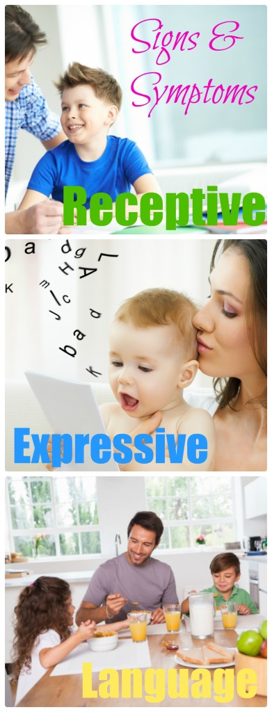 Signs and symptoms of children struggling with receptive and expressive language. ilslearningcorner.com #speechdelays