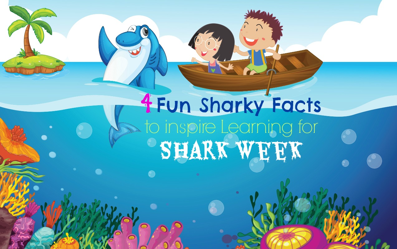 In Science: Don't let Your Child Become Shark Bait! 4 Fun Sharky Facts to inspire learning during Shark Week with Kids. ilslearningcorner.com