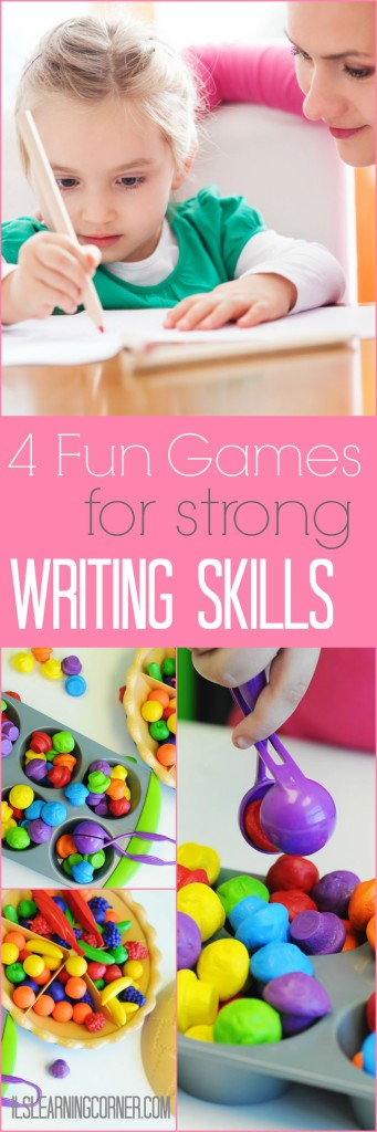 4 Fun and Simple Games to Build Strong Writing Skills | ilslearning.com #writing