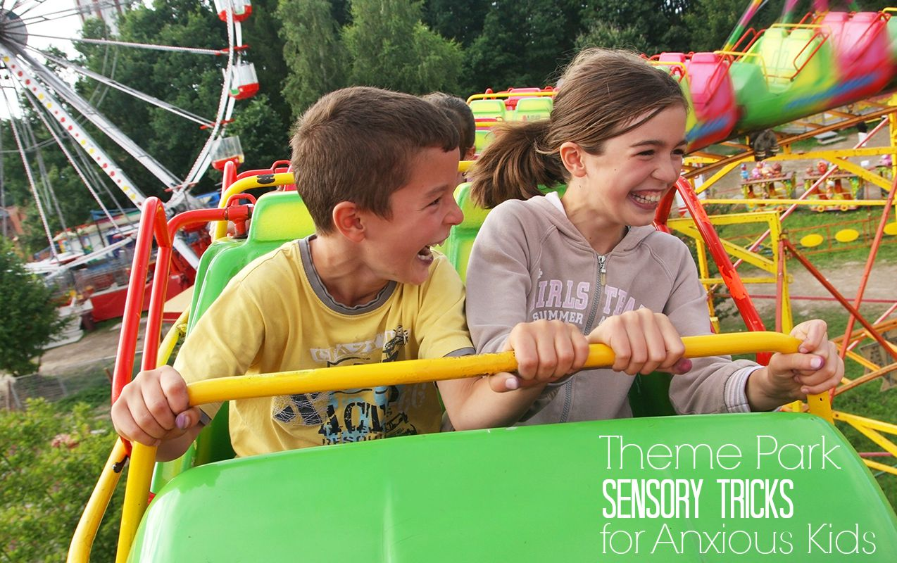9 Sensory Tricks to Stop Child Anxiety at Family Theme Parks | ilslearningcorner.com #themeparks #sensory